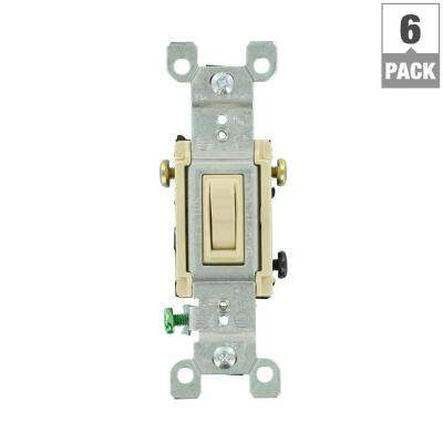 15 Amp 3-Way Toggle Switch, Ivory (6-Pack)