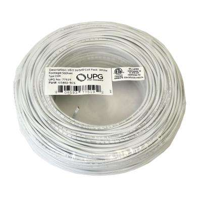 500 ft. Coil Pack of 18-Gauge 2-Conductor White Alarm Cable