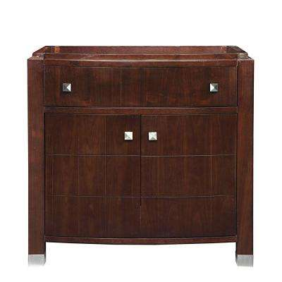 Adrianna 36.25 in. W x 21.562 in. D x 34.375 in. H Vanity Cabinet Only in Medium Walnut