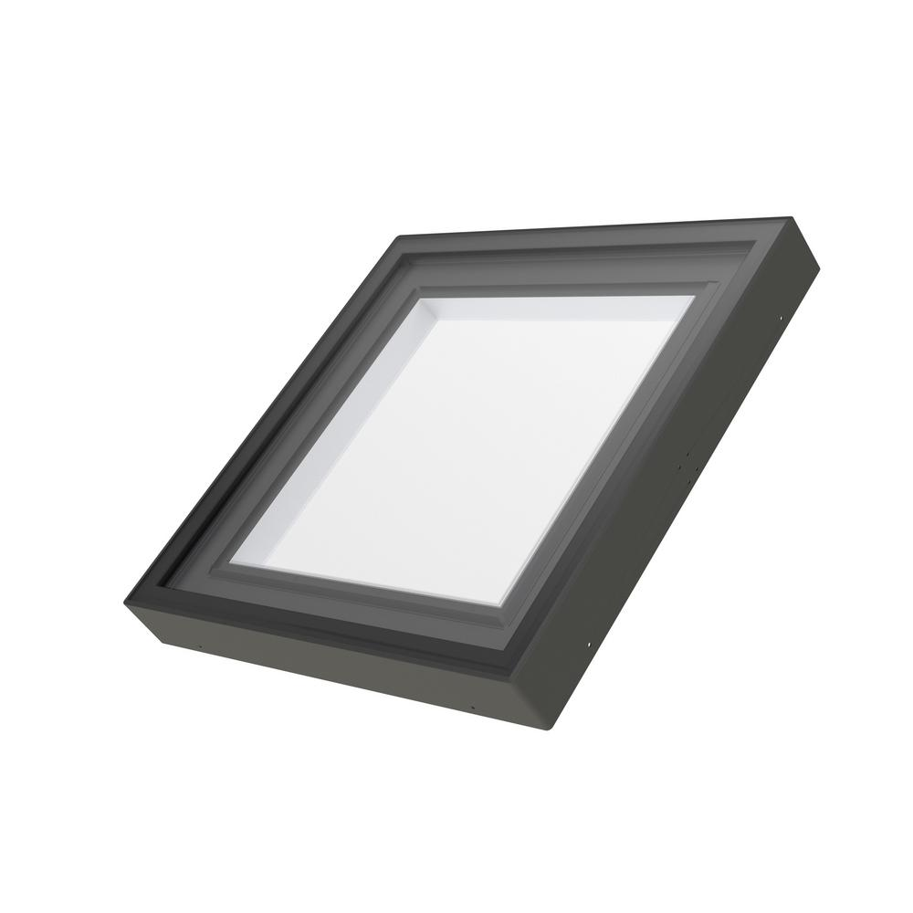 Fakro FXC 34-1/2 in. x 34-1/2 in. Fixed Curb-Mounted Skylight with Laminated LowE366 Glass