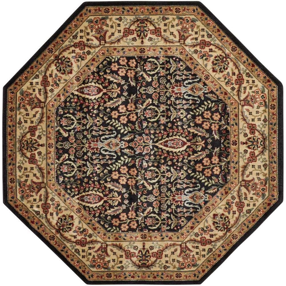 Nourison Persian Arts Black 5 Ft 3 In X 5 Ft 3 In