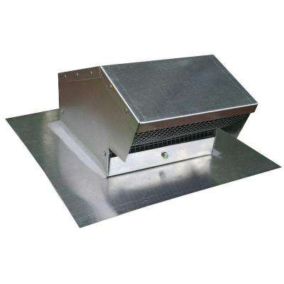 4 in. Aluminum Flush Roof Cap with Removable Screen and Backdraft Damper