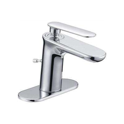 Carmine Single Hole Single-Handle Bathroom Faucet in Chrome