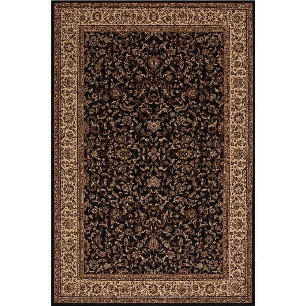 Concord Global Trading Persian Classics Kashan Black 5 Ft