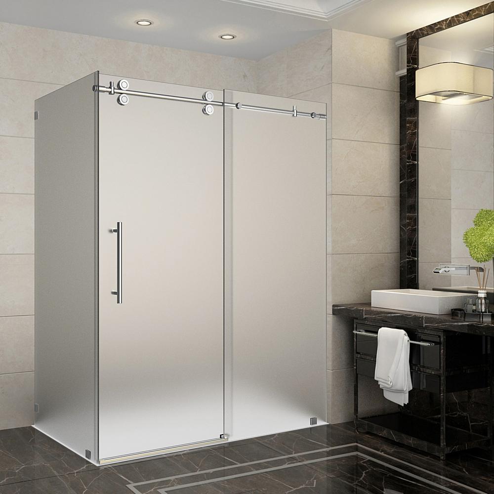 Frameless - 60 - Corner Shower Doors - Shower Doors - The Home Depot