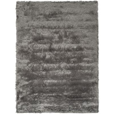 Faux Sheep Skin Gray 5 ft. x 8 ft. Area Rug