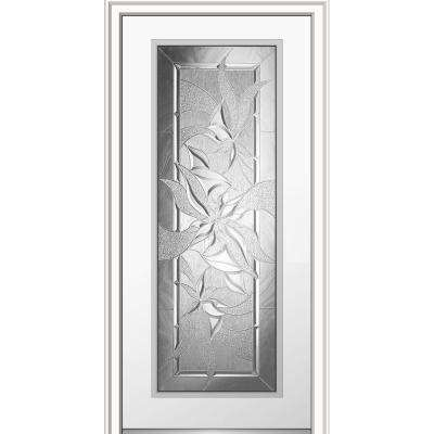 32 in. x 80 in. Impressions Right-Hand Inswing Full Lite Decorative Glass Primed Steel Prehung Front Door