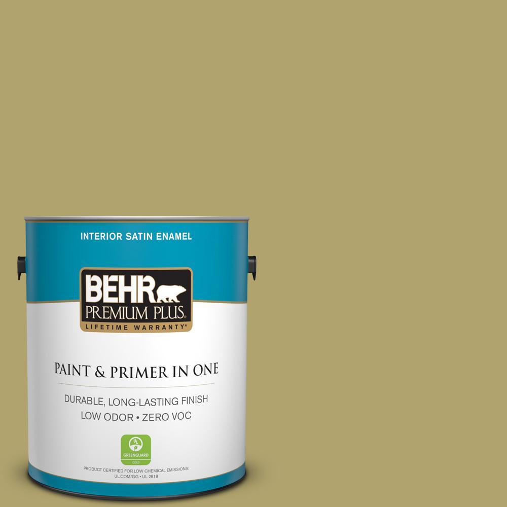1-gal. #HDC-WR15-10 Green Bean Casserole Zero VOC Satin Enamel Interior Paint