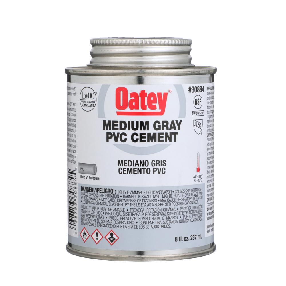 Oatey 8 oz. PVC Medium Gray Cement