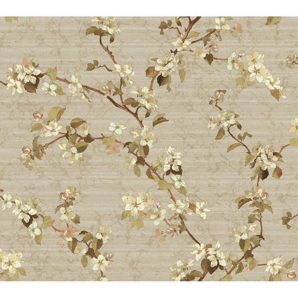 York Wallcoverings Apple Blossom Wallpaper by York Wallcoverings