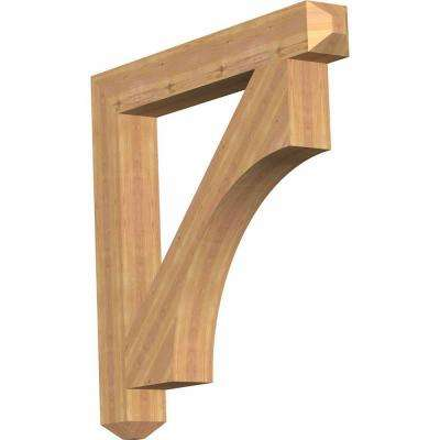 5.5 in. x 44 in. x 44 in. Western Red Cedar Westlake Craftsman Smooth Bracket