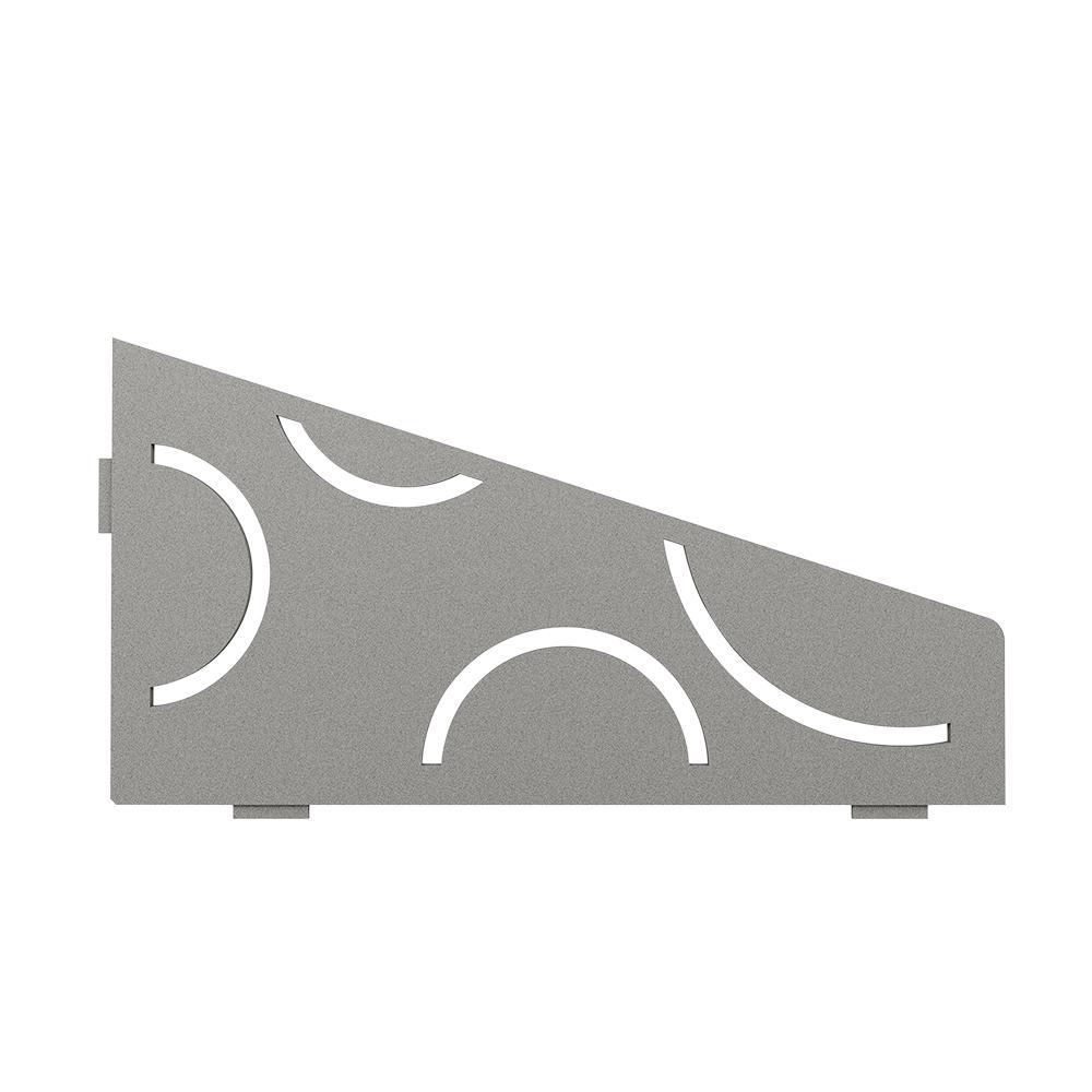 Shelf-E Stone Grey Coated Aluminum Curve Quadrilateral Corner Shelf