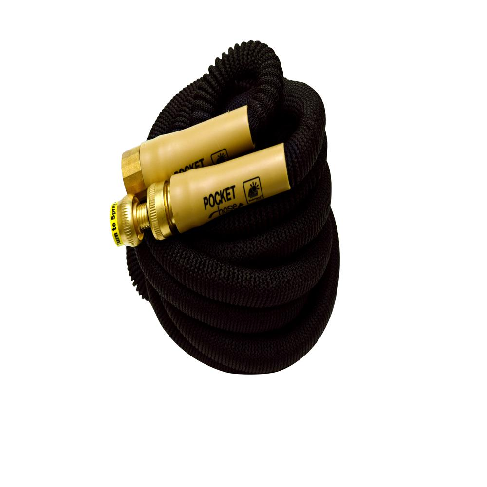 pocket hose top brass bullet 5 8 in x 50 ft standard. Black Bedroom Furniture Sets. Home Design Ideas