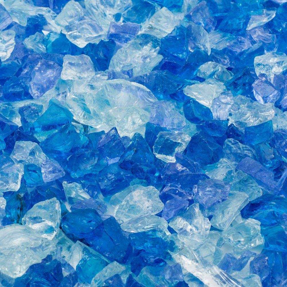1/4 in., 25 lb. Blue Hawaii Landscape Fire Glass