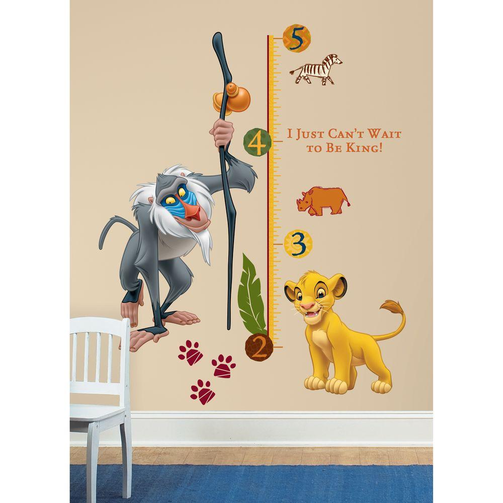 Awesome RoomMates The Lion King Rafiki Peel And Stick Giant Growth Chart Wall Decal