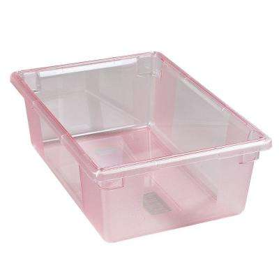 12.5 gal., 18x26x9 in. Polycarbonate Food Storage Box in Translucent Red (Case of 4)