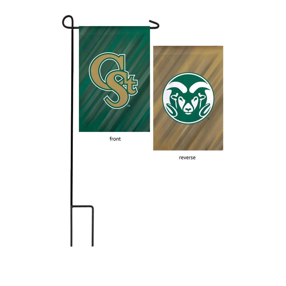 NCAA 18 in. x 12.5 in. Colorado State University Suede Garden