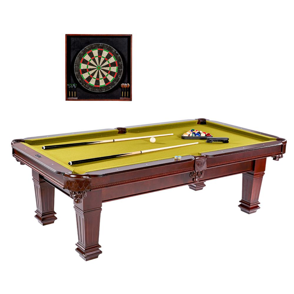 Billiard Table With Dartboard Cabinet Set