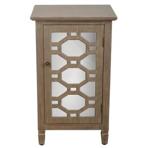 Decor Therapy Mirrored Door Winter Wood Accent End Table by Decor Therapy