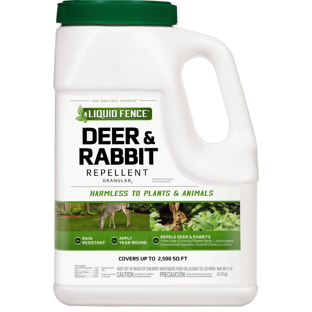 Liquid Fence 5 Lb Granular Deer And Rabbit Repellent Hg 72654 1 The Home Depot