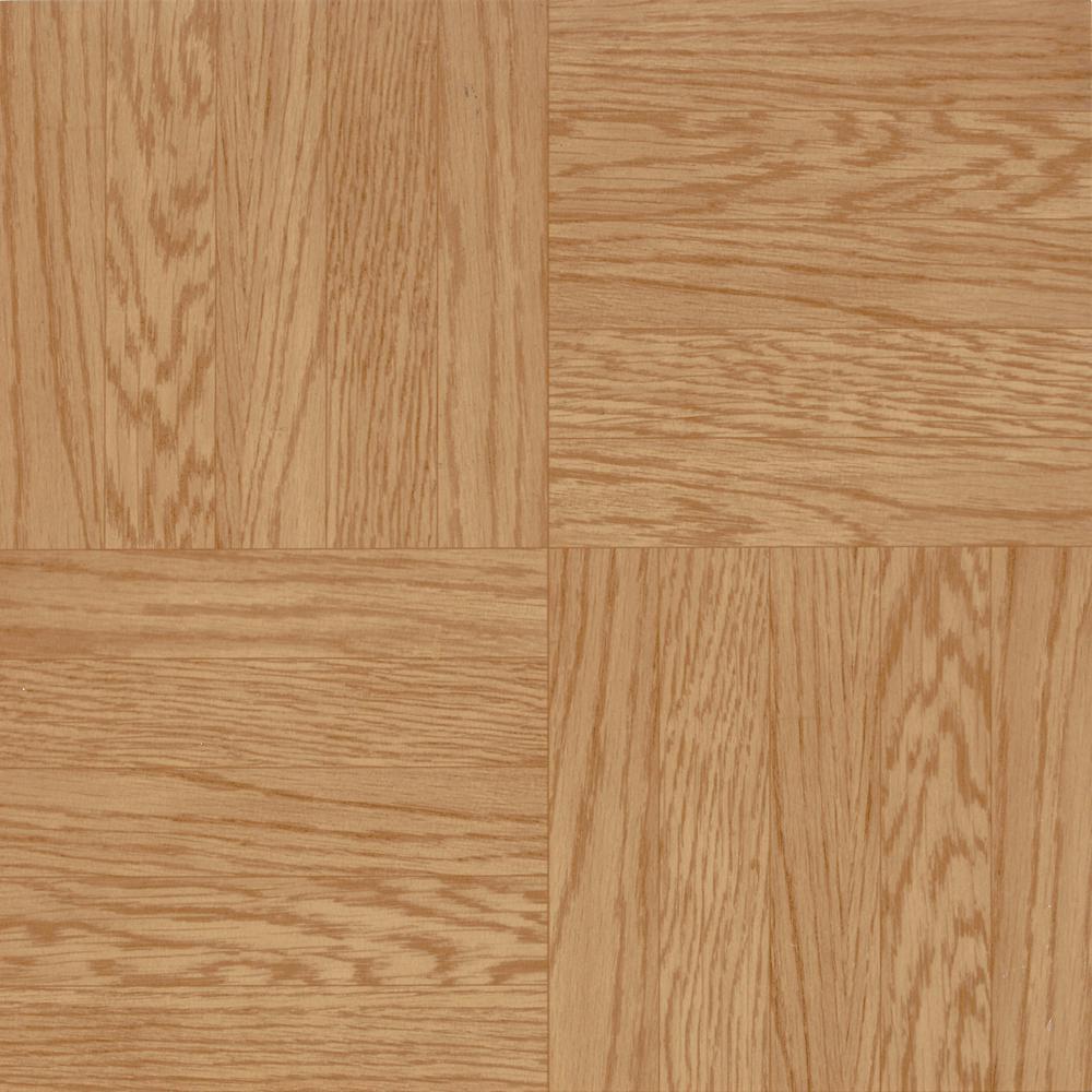 Parkson Light Oak 12 in. x 12 in. Residential Peel and Stick Vinyl Tile Flooring (45 sq. ft. / case)