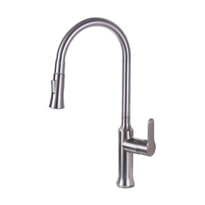 8.27 in. Single-Handle Pull-Down Sprayer Kitchen Faucet in Brushed Nickel