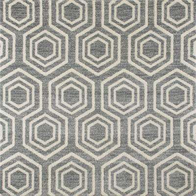 Highline Bees Knees Gray 7 ft. x 7 ft. Square Area Rug