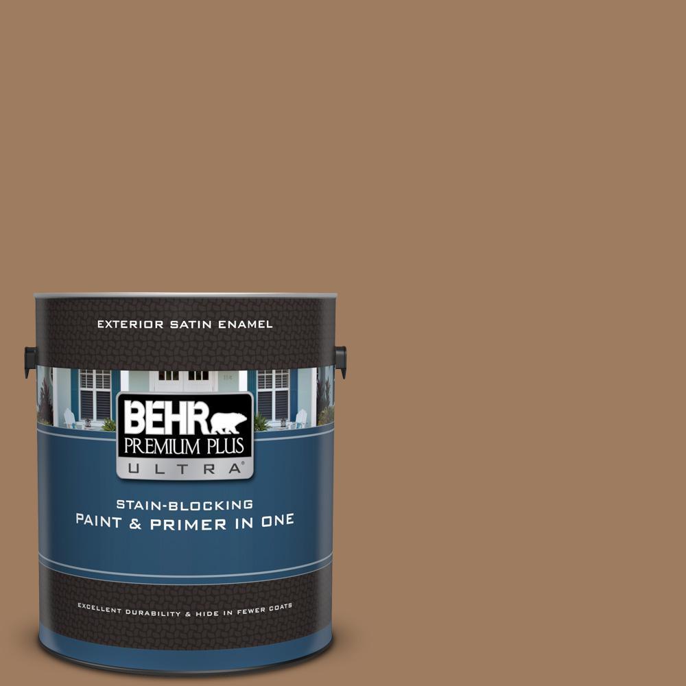 Behr Premium Plus Ultra 1 Gal Bxc 08 Safari Brown Satin Enamel Exterior