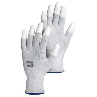 Top Size 8 White PU Dipped Glove