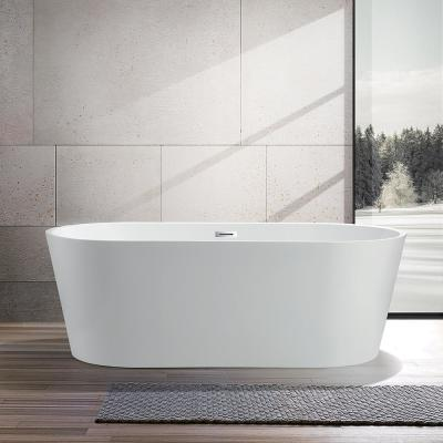 Vanity Art Bordeaux 59 In Acrylic Flatbottom Freestanding Bathtub In White Va6815 The Home Depot