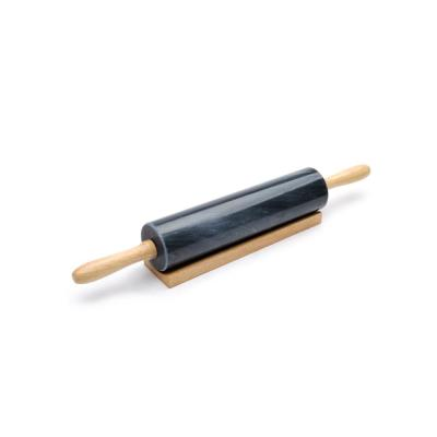 Black Marble Rolling Pin and Base