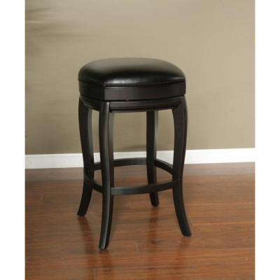 Madrid 26 in. Black Cushioned Bar Stool