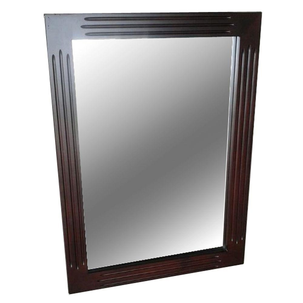 Belle Foret Carsen 30 in. L x 22 in. W Wall Mounted Mirror in Chocolate