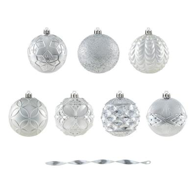 Holiday Traditions 80 mm Shatterproof Silver Ornament (60-Pack)