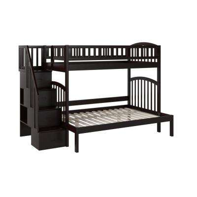 Westbrook Twin Over Full Espresso Staircase Bunk