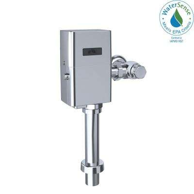 EcoPower Touchless Urinal 1.0 GPF Toilet Flushometer Valve and 12 in. Vacuum Breaker Set in Polished Chrome