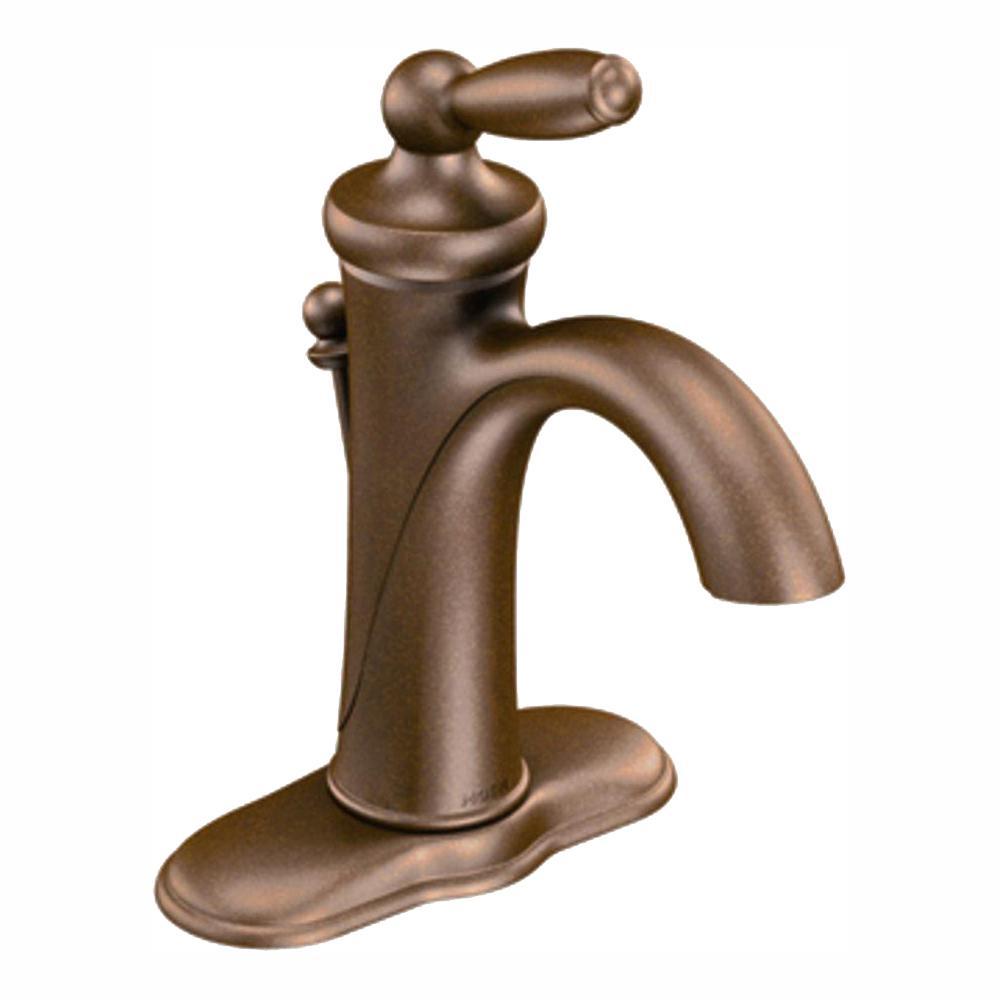 Brantford Single Hole Single-Handle High-Arc Bathroom Faucet in Oil Rubbed Bronze