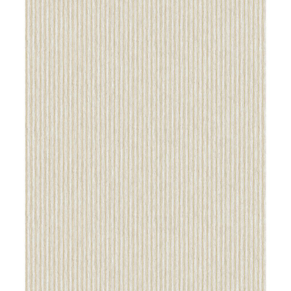 57.8 sq. ft. Lily Beige Stripe Wallpaper