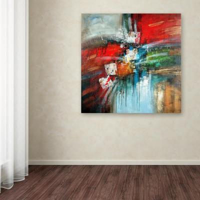 """35 in. x 35 in. """"Cube Abstract IV"""" by Rio Printed Canvas Wall Art"""