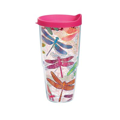 Dragonfly Mandala 24 oz. Tumbler with Lid