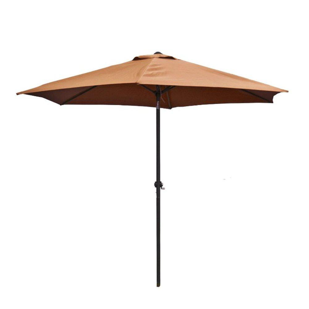 9 ft. Steel Market Patio Umbrella in Tan