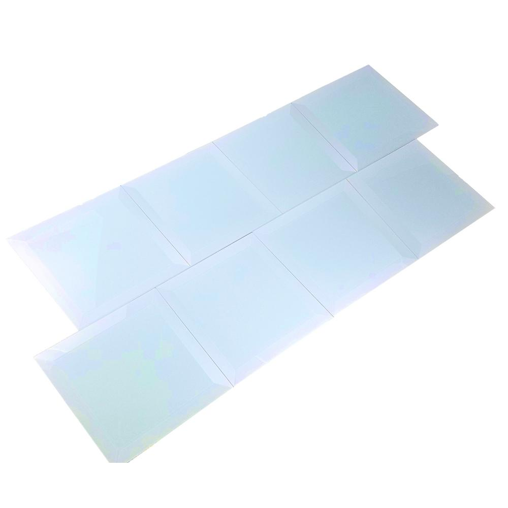 Frosted Elegance Catherine Blue 8 in. x 8 in. Glass Peel