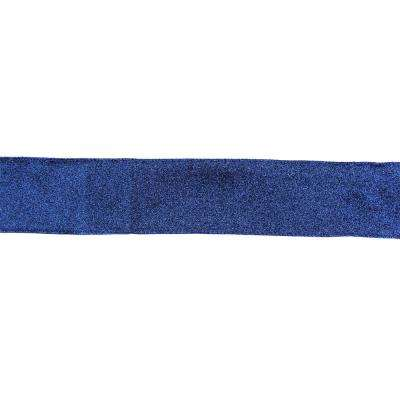 2.5 in. x 16 yds. Sparkles and Glitter Blue Solid Wired Craft Ribbon