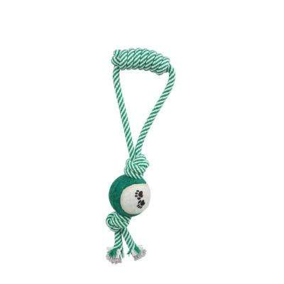Pull Away Rope and Tennis Ball in Green
