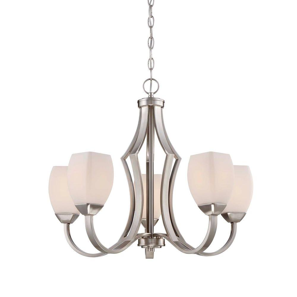 home decorators collection 5 light brushed nickel