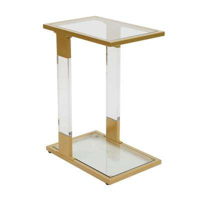 Farrah Acrylic and Metal C-Table