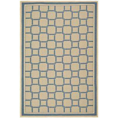Resort Weave Cream/Blue 7 ft. x 10 ft. Area Rug