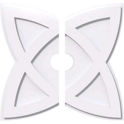 20 in. OD x 3 in. ID x 1 in. P Cosmo Architectural Grade PVC Contemporary Ceiling Medallion (2-Piece)