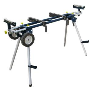 Powertec Deluxe Miter Saw Stand With Wheels And 110 Volt