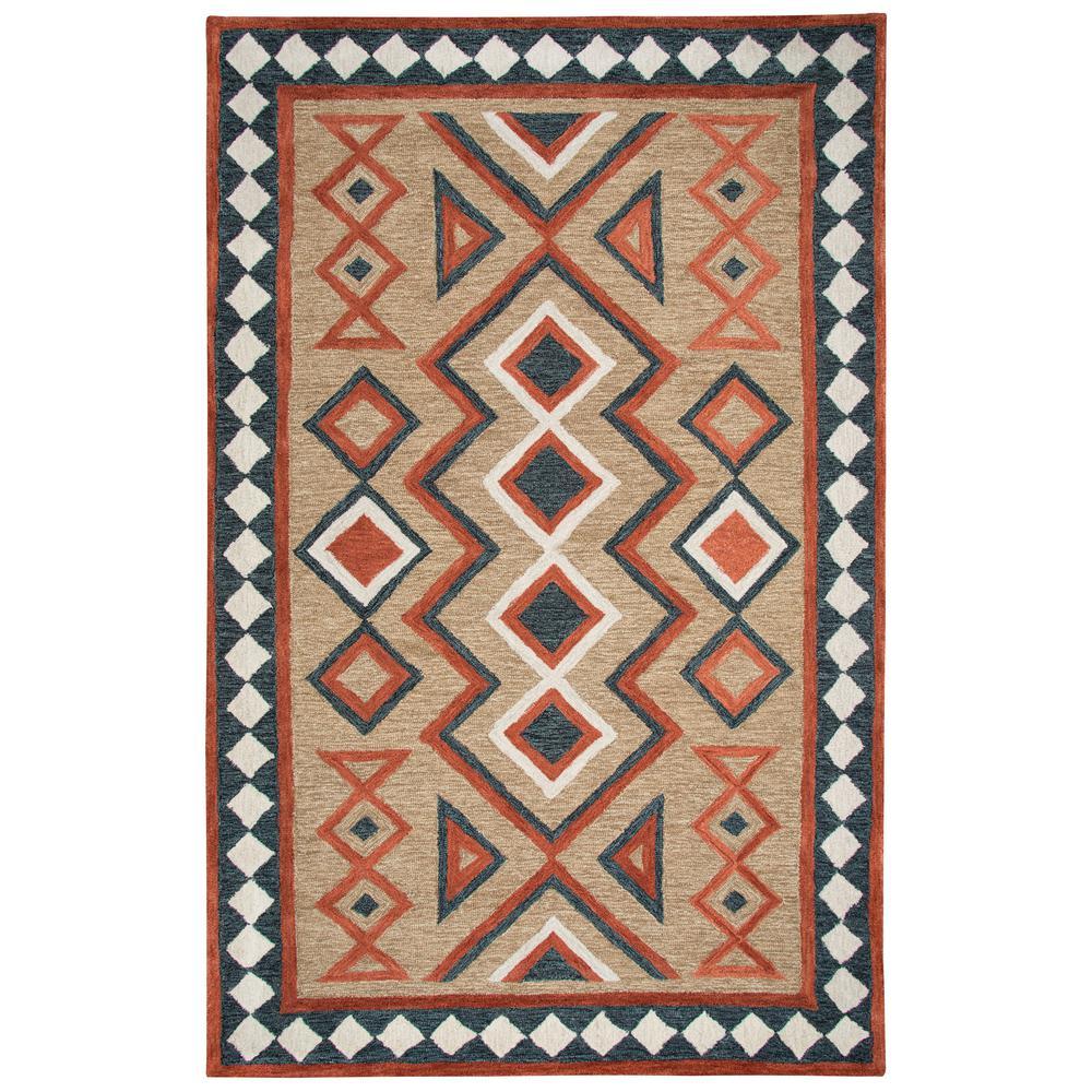 Durango Brown/Multi-Color 8 ft. x 11 ft. Native American Area Rug